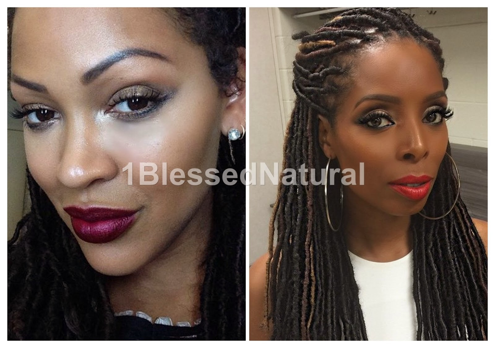 1blessednatural spotlight faux locs 1blessednatural meagan good and tasha smith both wearing faux locs photo cred instagram mt baditri Images