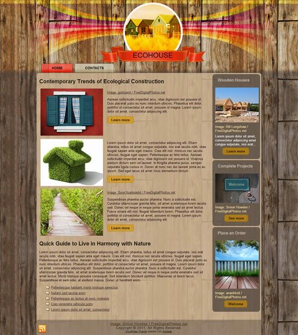Eco House - Free Wordpress Theme