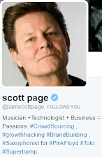 SCOTT PAGE IS FOLLOWING THIS BLOG ON TWITTER