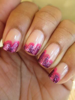 Julep, Lauren, Barbara, pink cloud, cloud tip, scalloped tip, frenchie, nail art, nail design, mani