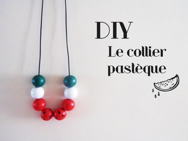 DIY : Le collier pastèque
