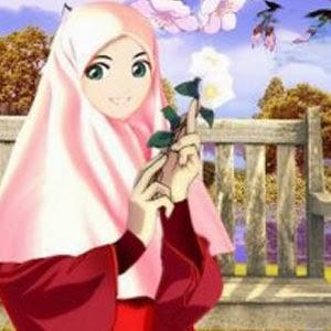 kartun muslimah kimono