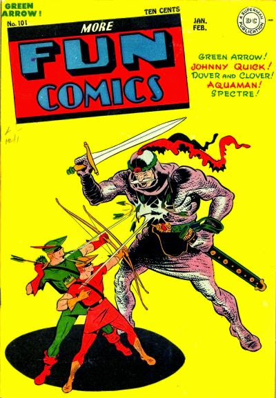 more fun comics dc comics green arrow speedy golden age