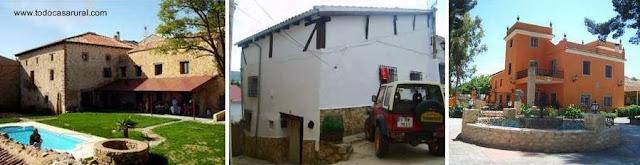 Tres imágenes de casas rurales en España