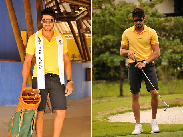 Renan Oliveira jogou golfe durante prova esportiva do concurso. Foto: Estúdio Xis