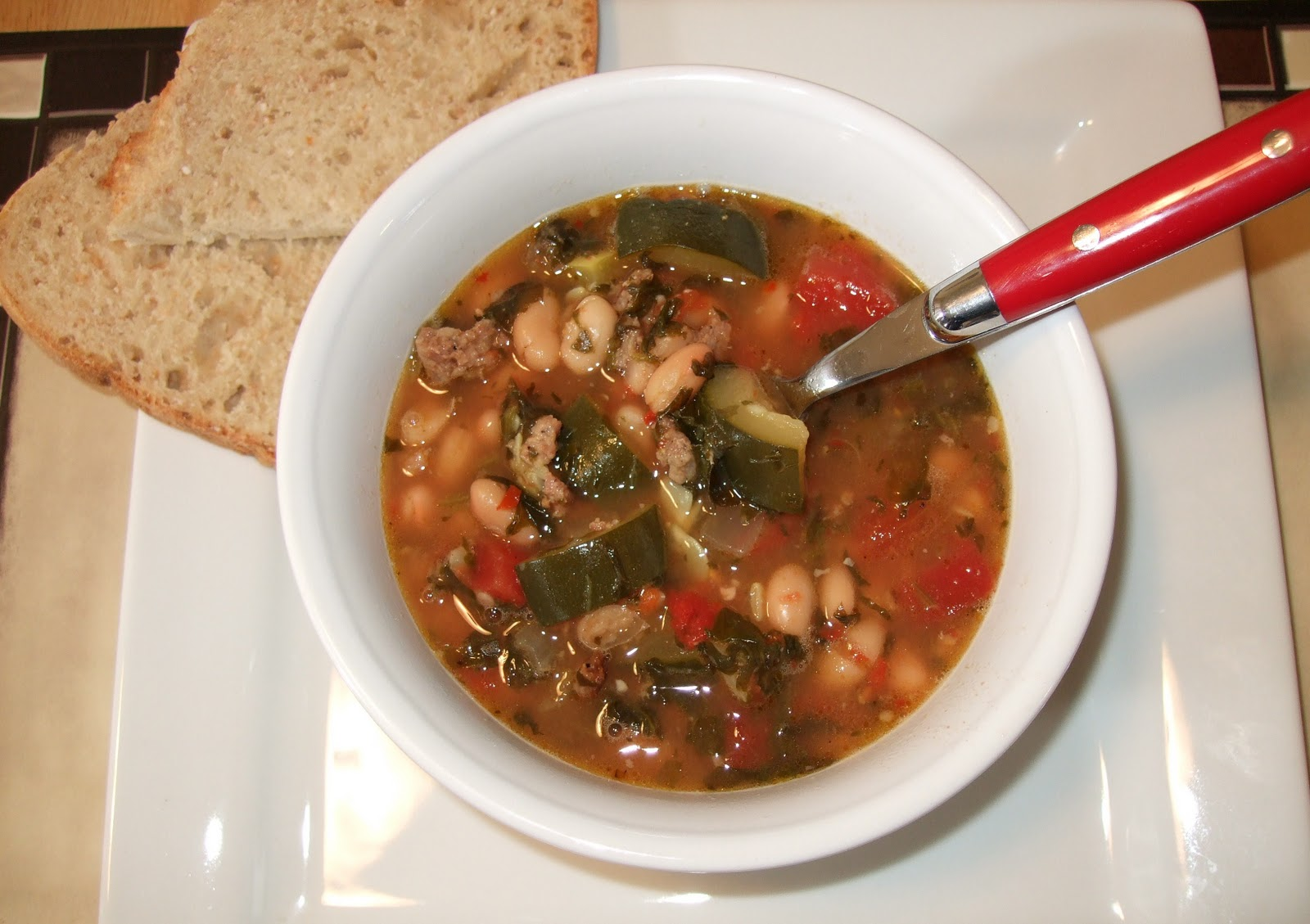 Blayneskitchen: Tuscan white bean and sausage soup