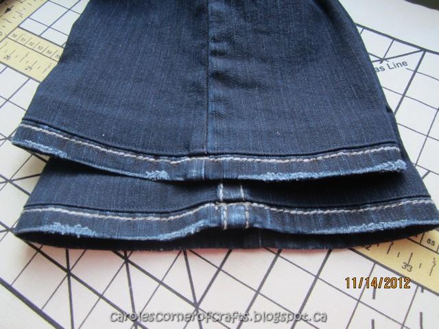 how to hem pants and keep original hem