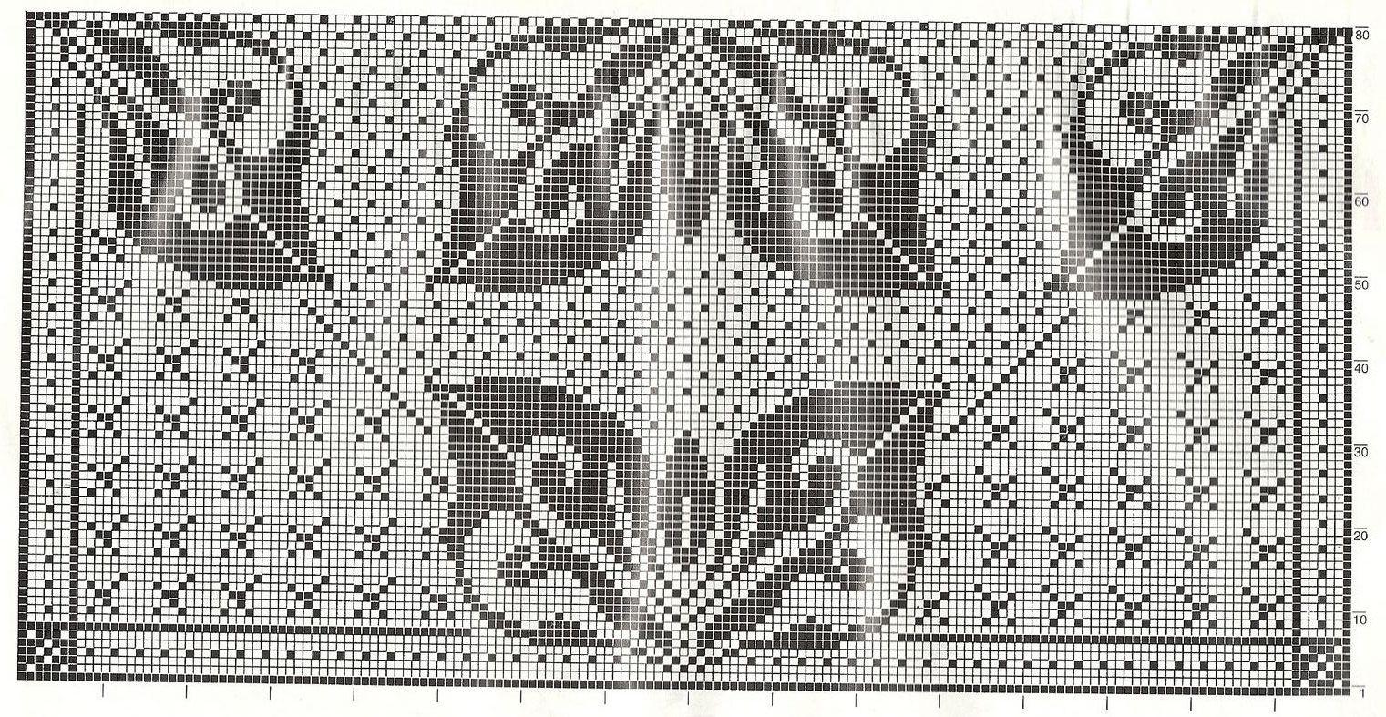 Прямоугольная скатерть филейное вязание 93