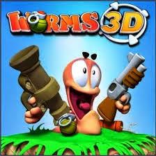 Gratis Game Worms 3D tembak cacing