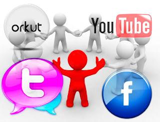 Redes Sociais em 3D do Lado Esquerdo do Blogger