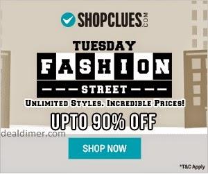 ShopClues Tuesday Fashion Street @ Upto 90% off
