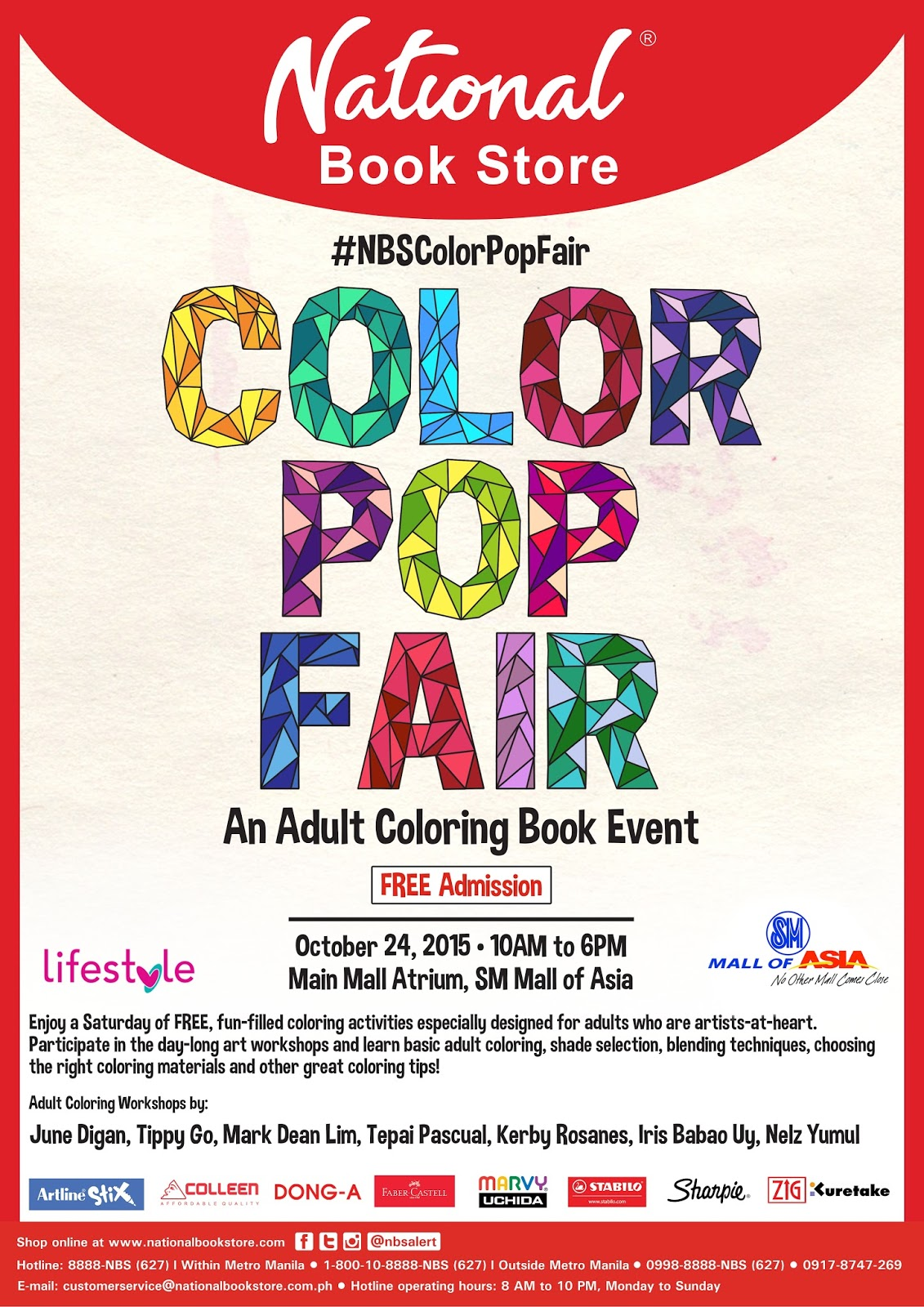 Be Sure To Attend The Color Pop Fair Hosted By National Book Store And Its Partners FREE