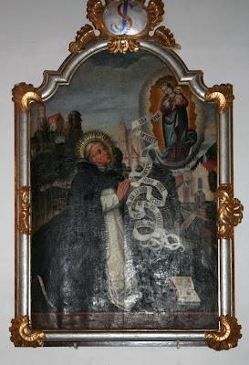 Obraz św. Jacka w kaplicy św. Jacka w kościele dominikanów w Sandomierzu