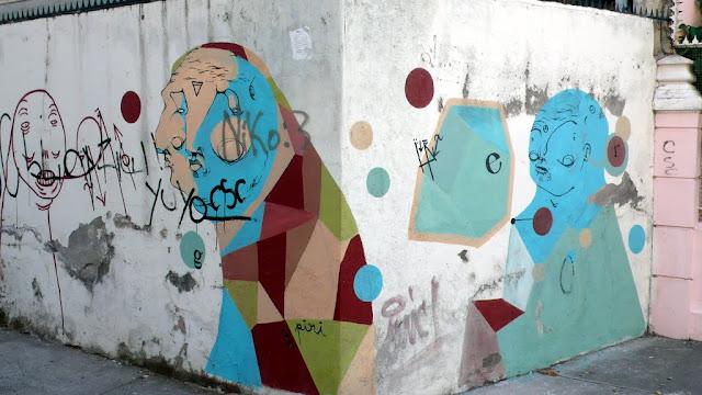 street art of piri santiago de chile barrio bellavista arte callejero