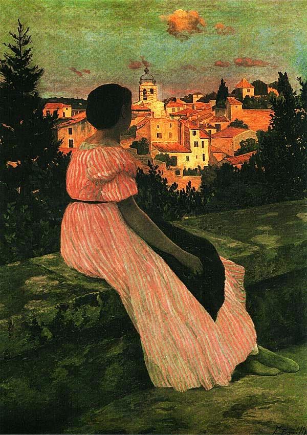 Фредерик Базиль. Розовое платье. Ок. 1864.