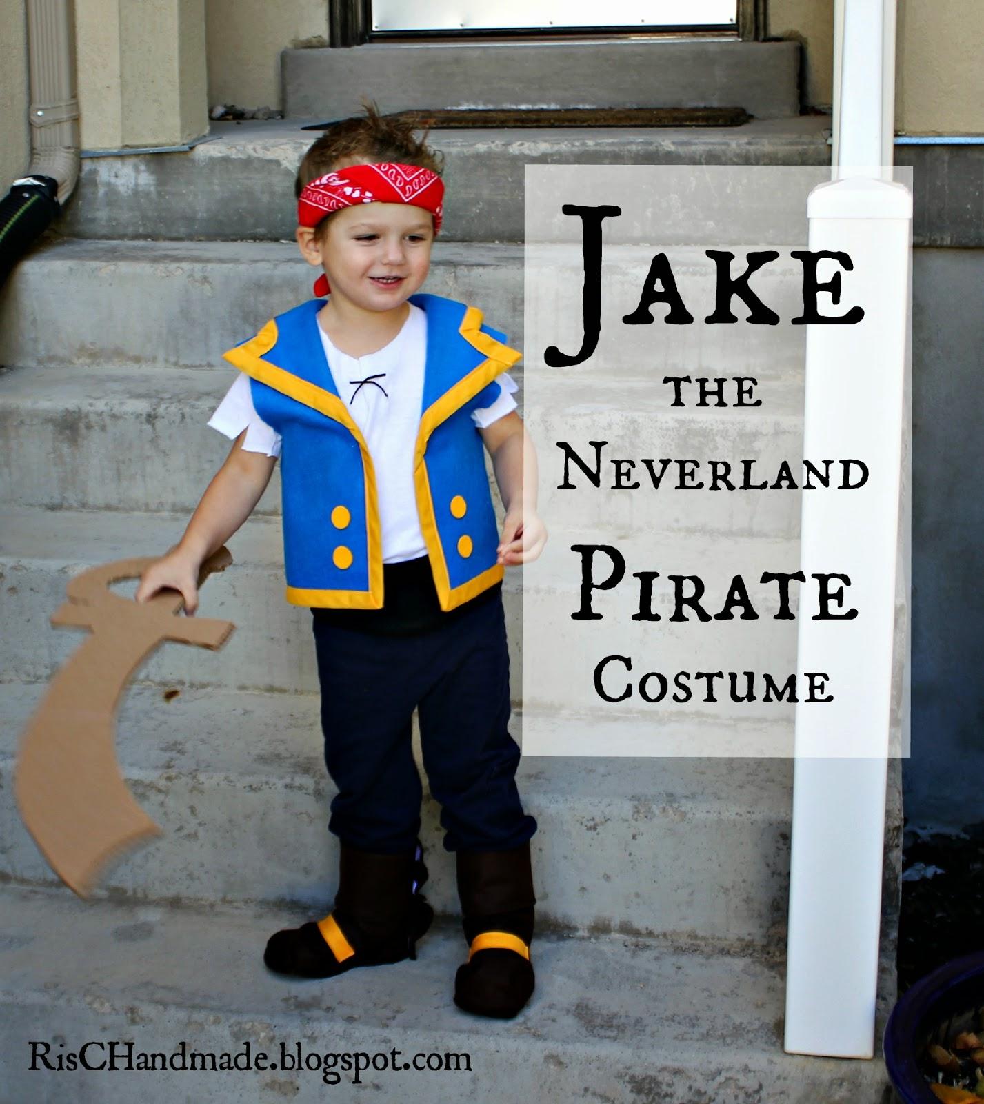 Jake the Neverland Pirate Costume  sc 1 th 238 & RisC Handmade