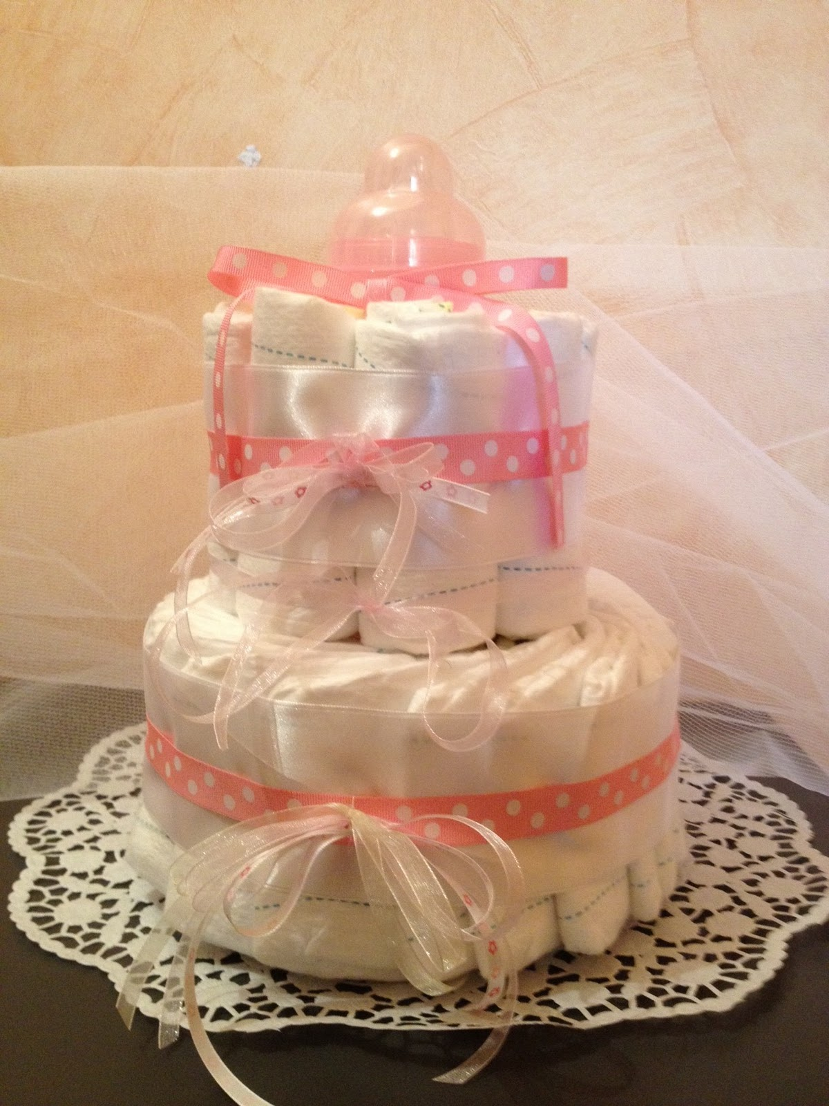 babyshower planner diaper cake confection de gateau de couches. Black Bedroom Furniture Sets. Home Design Ideas
