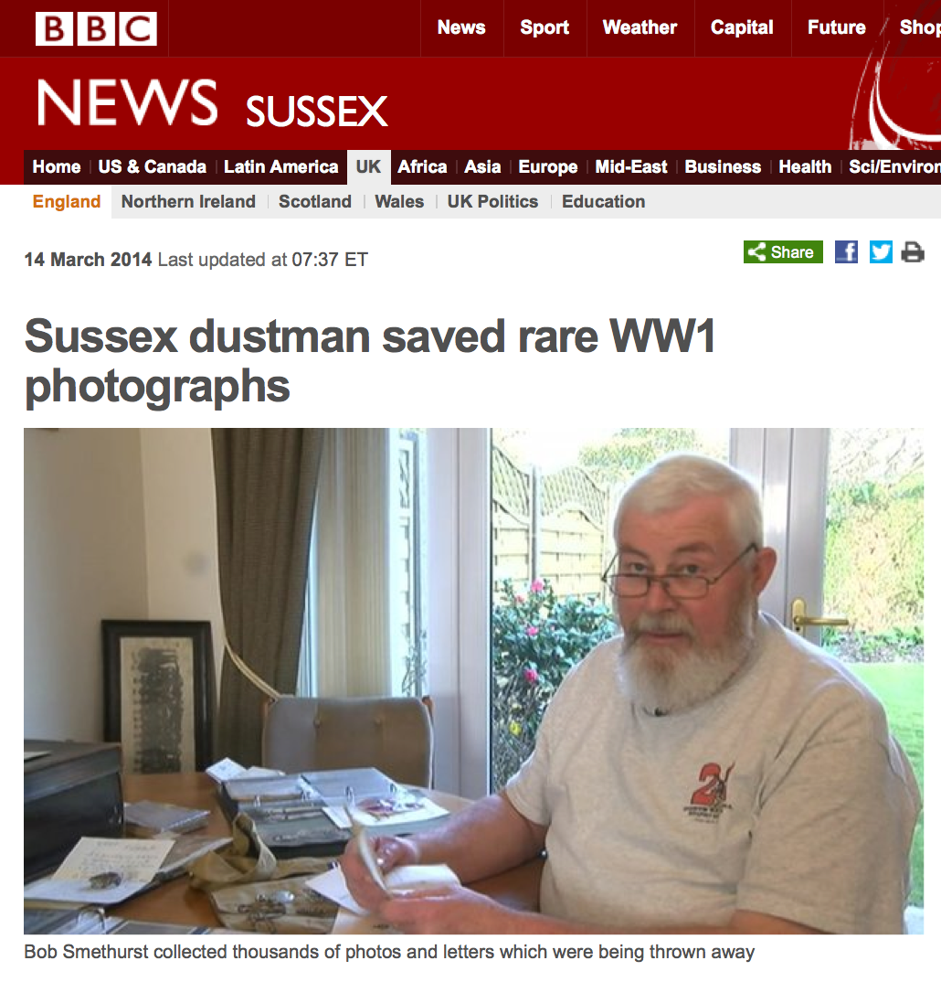 Olive Tree Genealogy Blog: One Man in England Saves 5000 WW1 Photos from Being Destroyed