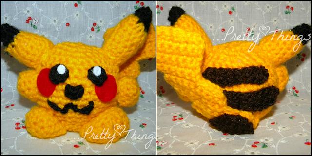 Chibi Pikachu Amigurumi : The Quirky Crafting Shmoogle Bean: Chibi Pikachu crochet ...