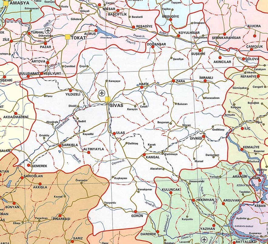 Sivas Siyasi Haritas�
