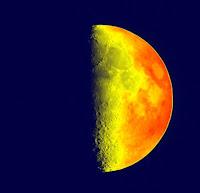 La Lune en pseudo-couleurs, colorisée avec OpenCV