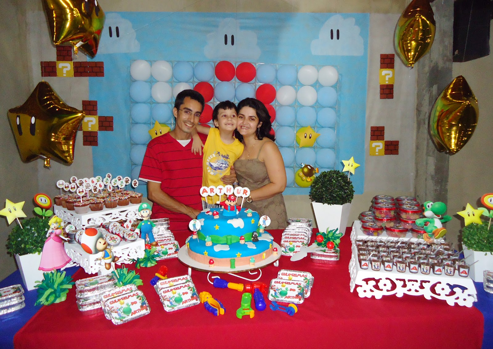Reinado de Arthur A festa do Super Mario Bros