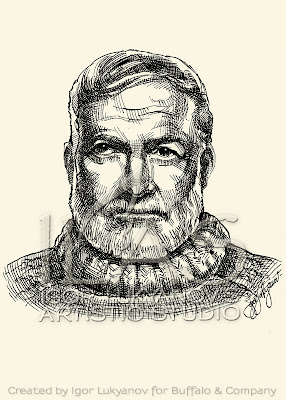 Ernest Hemingway big portrait