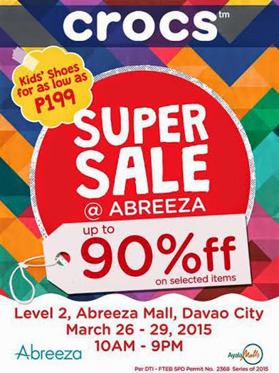 CROCS SUPER SALE IN DAVAO STARTS TODAY!