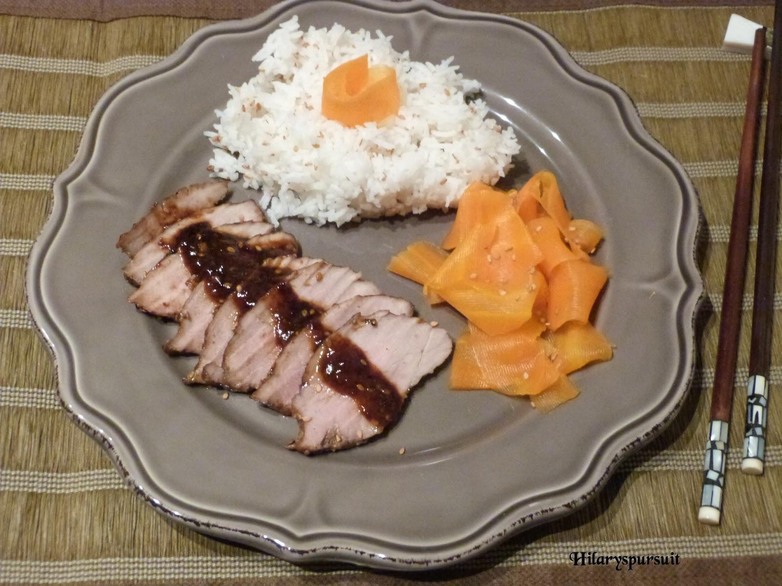 Dans la cuisine d 39 hilary filet mignon de porc laqu et - Cuisiner filet mignon de porc ...