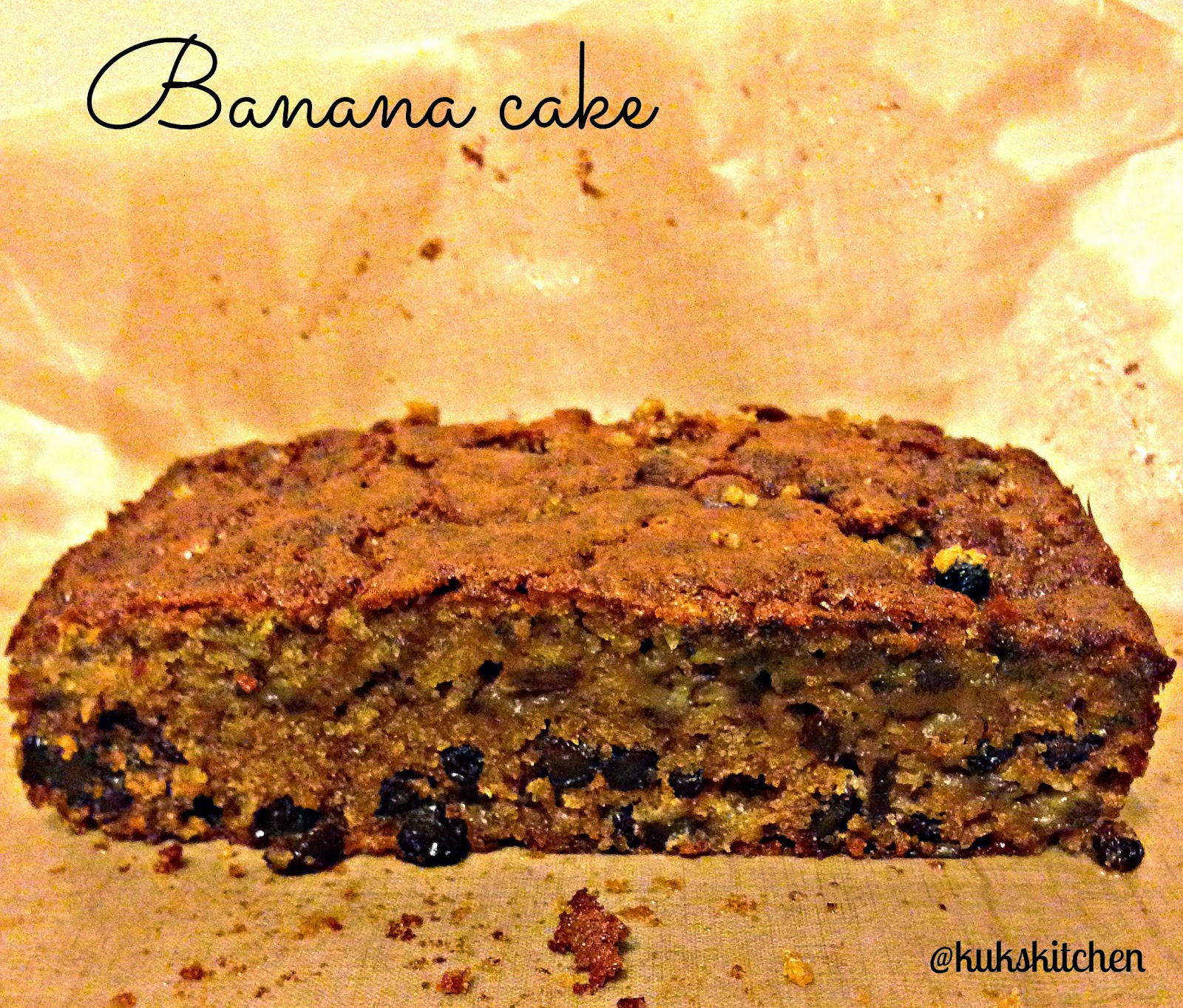 banana raisin cake kukskitchen