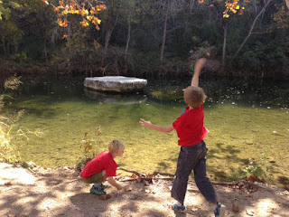 children in nature in Austin