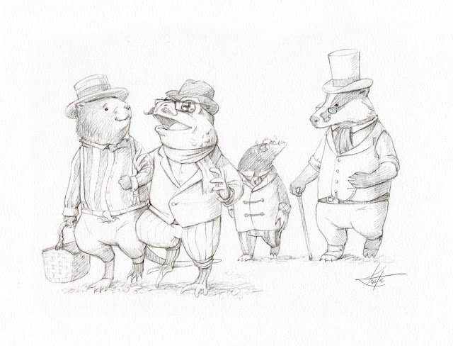 Steam in the willows the characters for Wind in the willows coloring pages