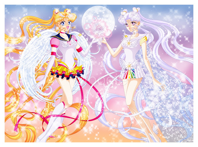 Eternal Sailor Moon and Cosmos por foogie