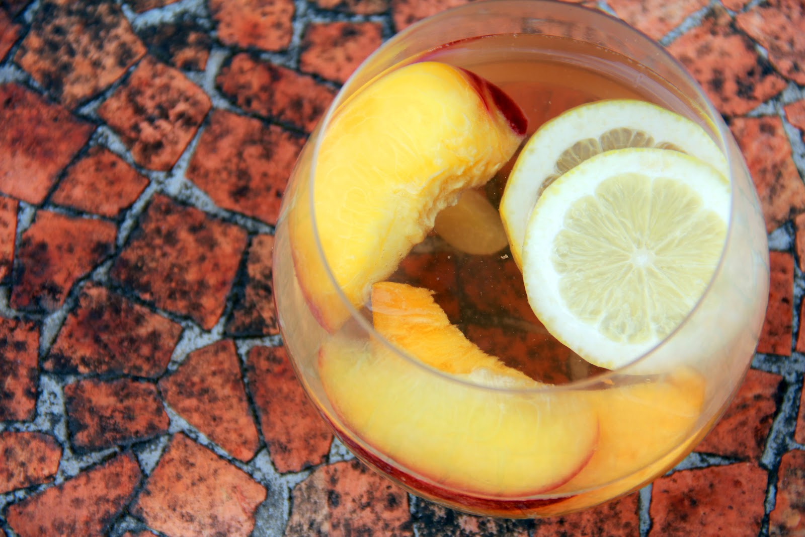 White Sangria with Summer Stone Fruits (Makes two large pitchers full)