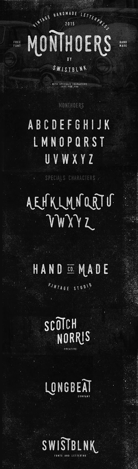 Download monthoers free font