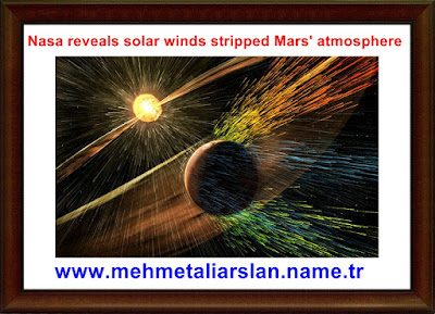 Nasa reveals solar winds stripped Mars' atmosphere