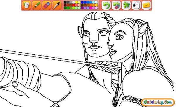 LAMINAS PARA COLOREAR - COLORING PAGES: Pelicula Avatar para dibujar ...