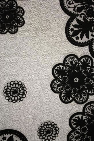 Black And White Texture. Vintage Fabric Textile Texture