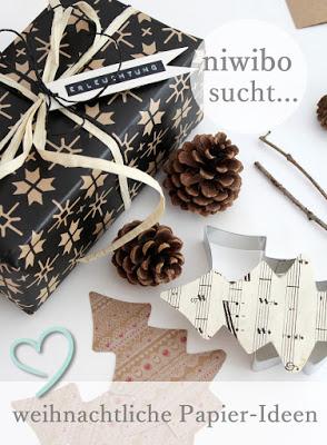 Weihnachtliche Papierideen bei Niwibo