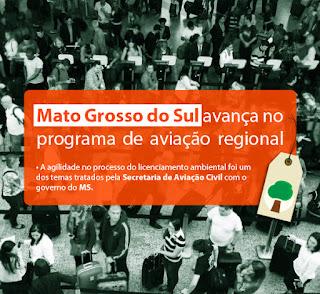 Mato Grosso do Sul avança no programa de aviação regional