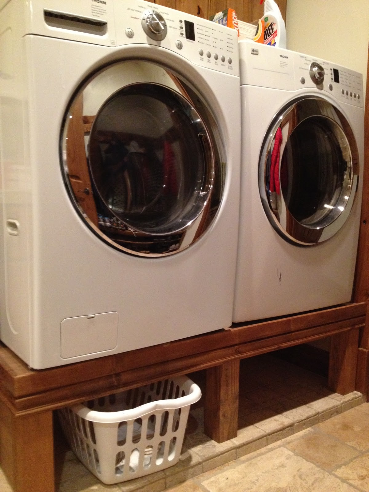 washer and laundry my dryer homemade pedestal pin diy