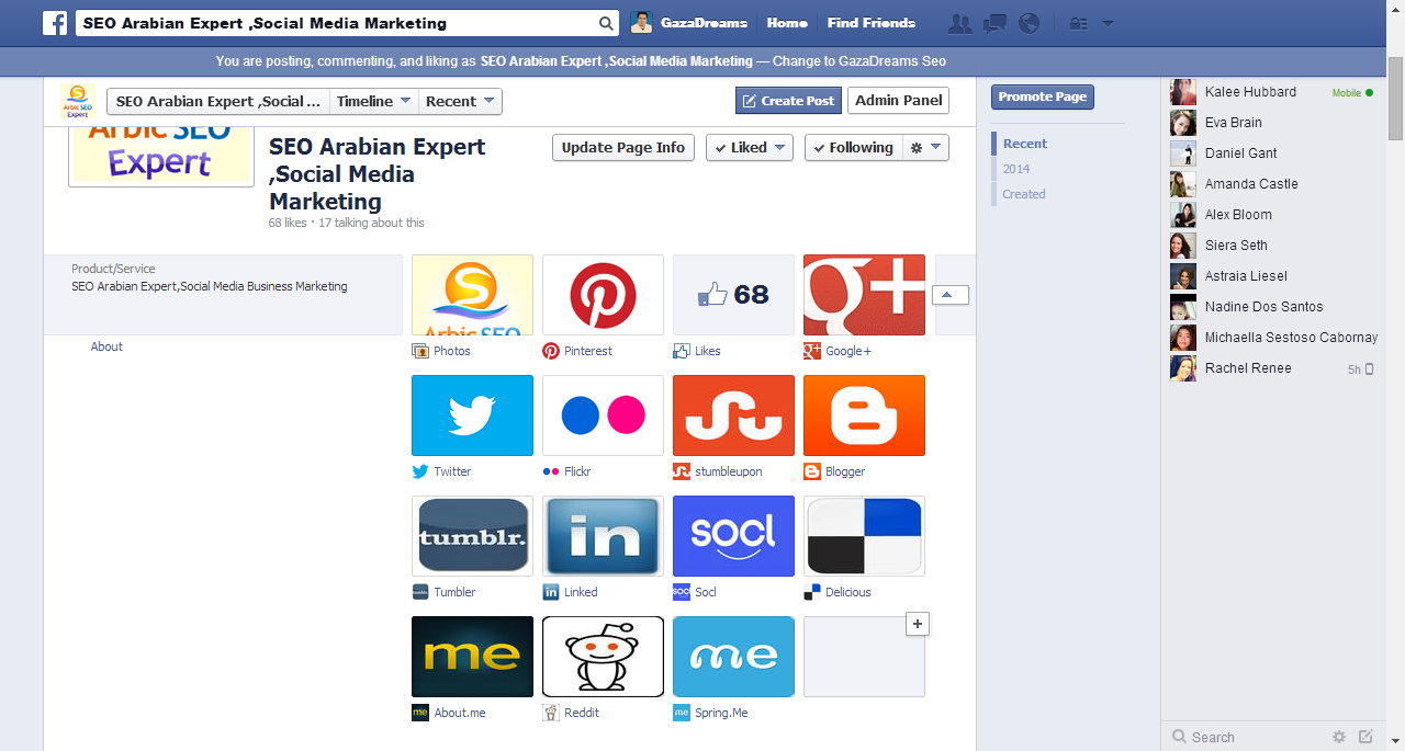 SEO Tips 3 for Facebook Page add other Social Networks Tabs