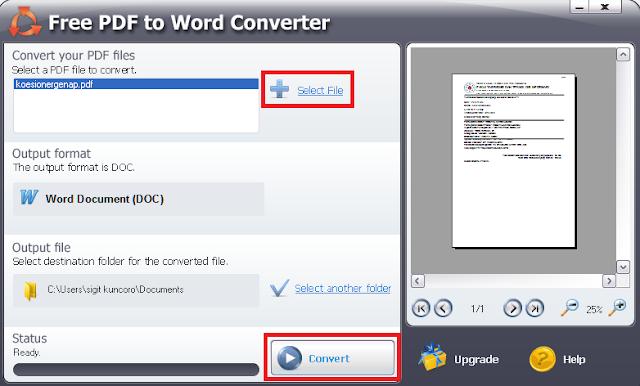 cara Convert PDF Ke Wod