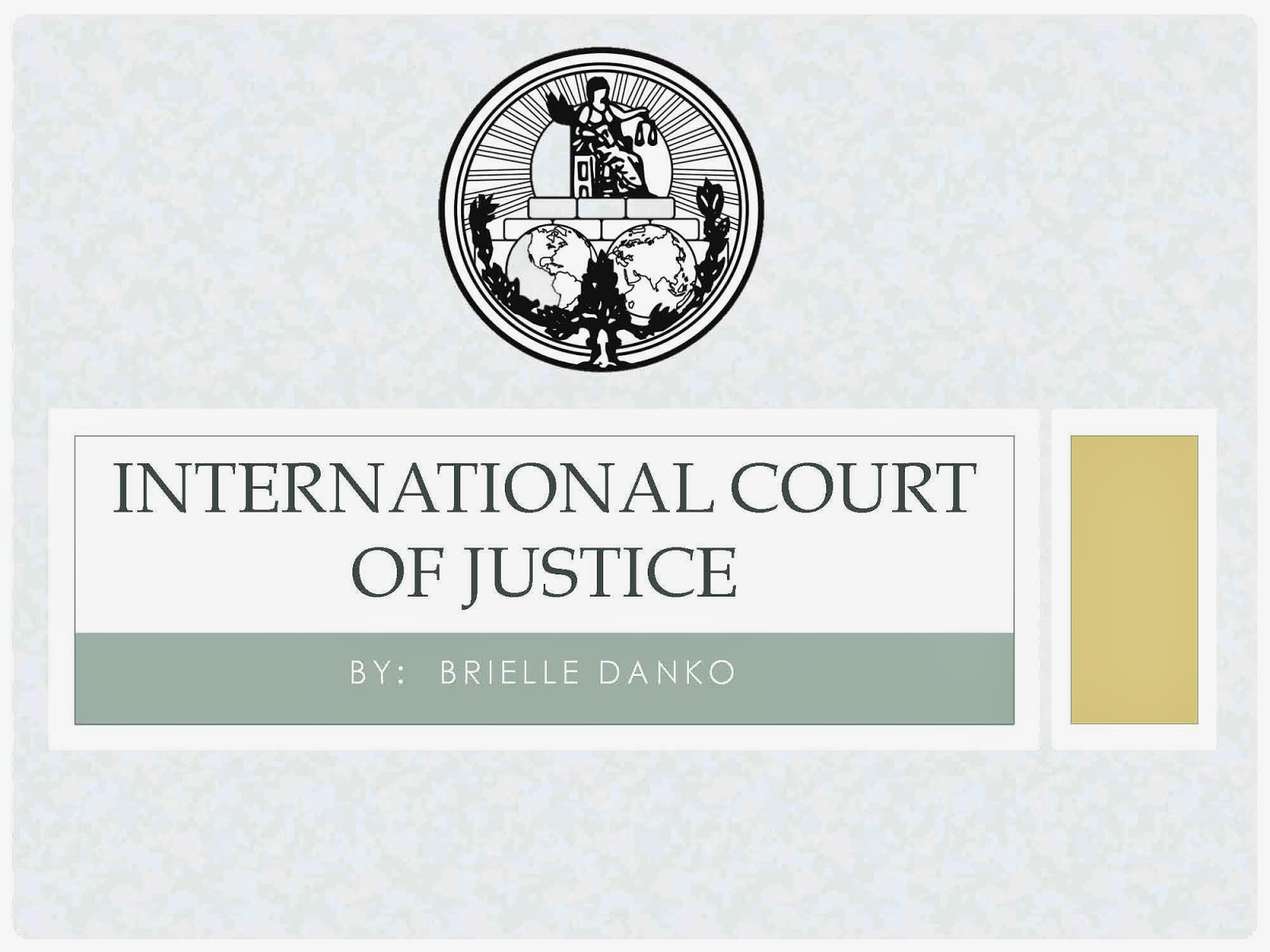 an analysis of the international court of justice Settling disputes between states international court of justice the principal judicial organ of the united nations is the international court of justice (icj) this main body of the un.