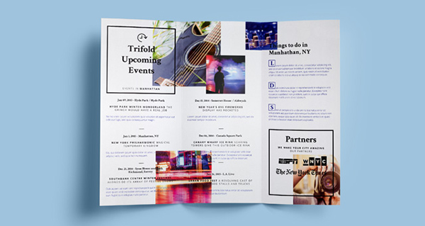 Download Gratis Mockup Majalah, Brosur, Buku, Cover - Tri Fold PSD Mock-up Template Vol. 7