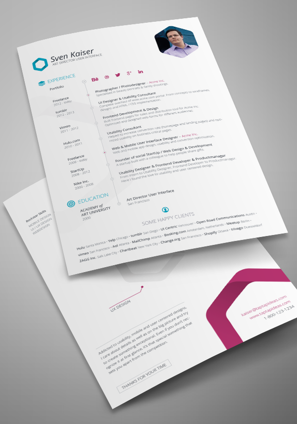 Free Resume Indesign Template