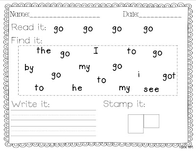Writing for said  sight Word Sight word Practice worksheet