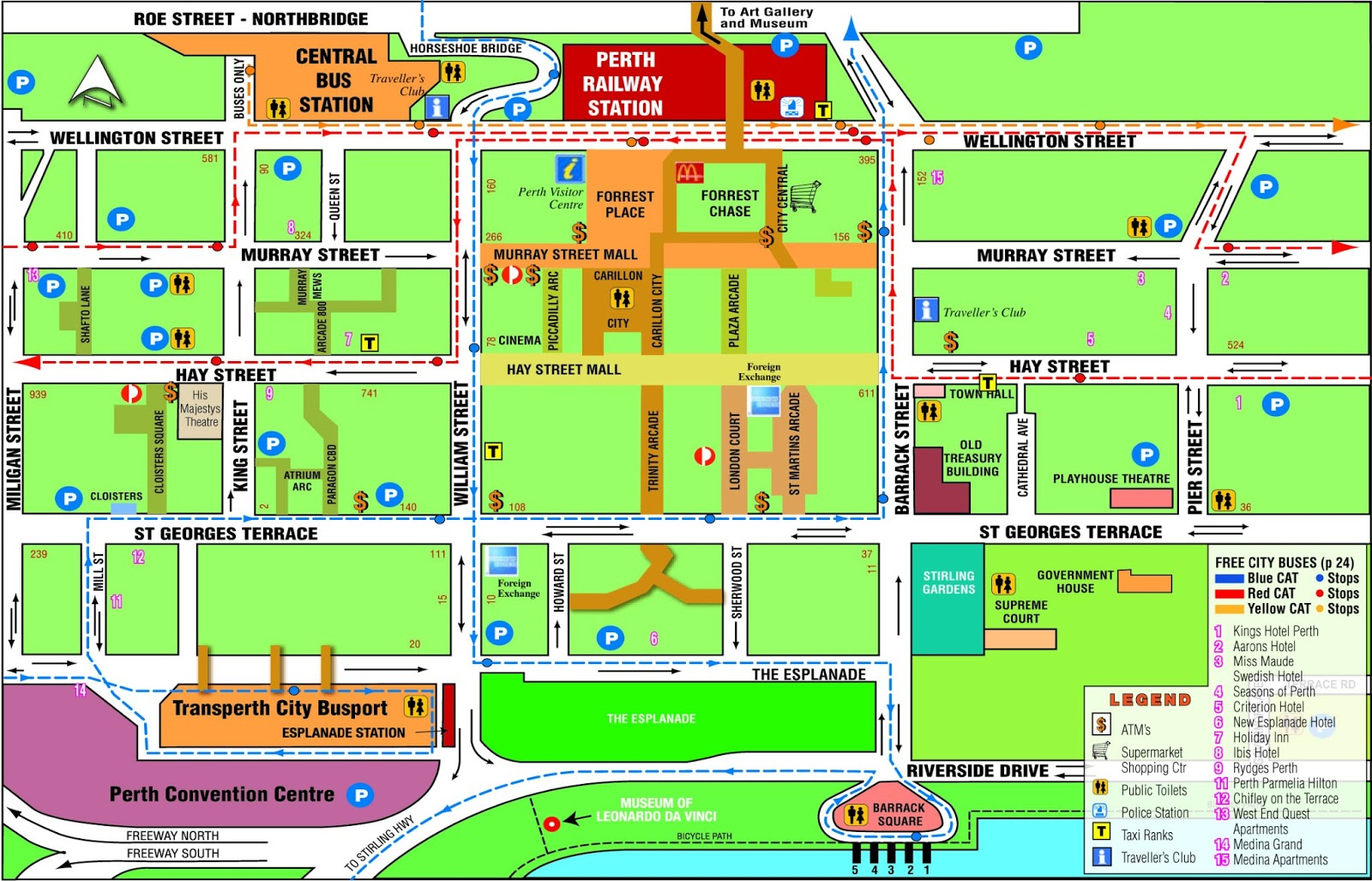 The Shed S Guide To Perth Map Of Perth Arcades