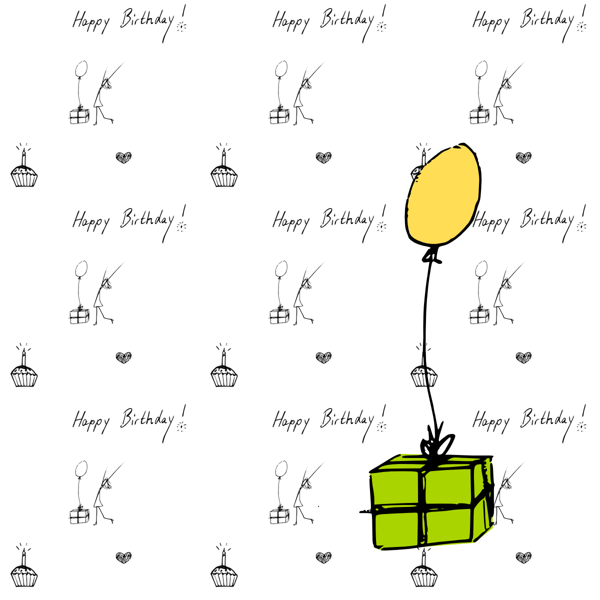 Today again doodled a bit and created this free digital happy birthday