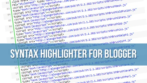 syntax highlighter untuk blogger